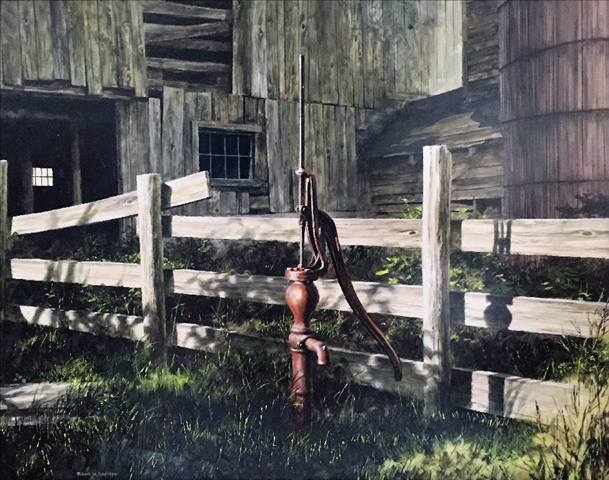 Barn with Water Pump