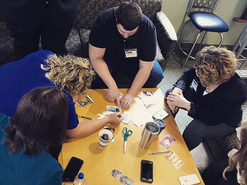 Group activity at Bay West Leadership Academy