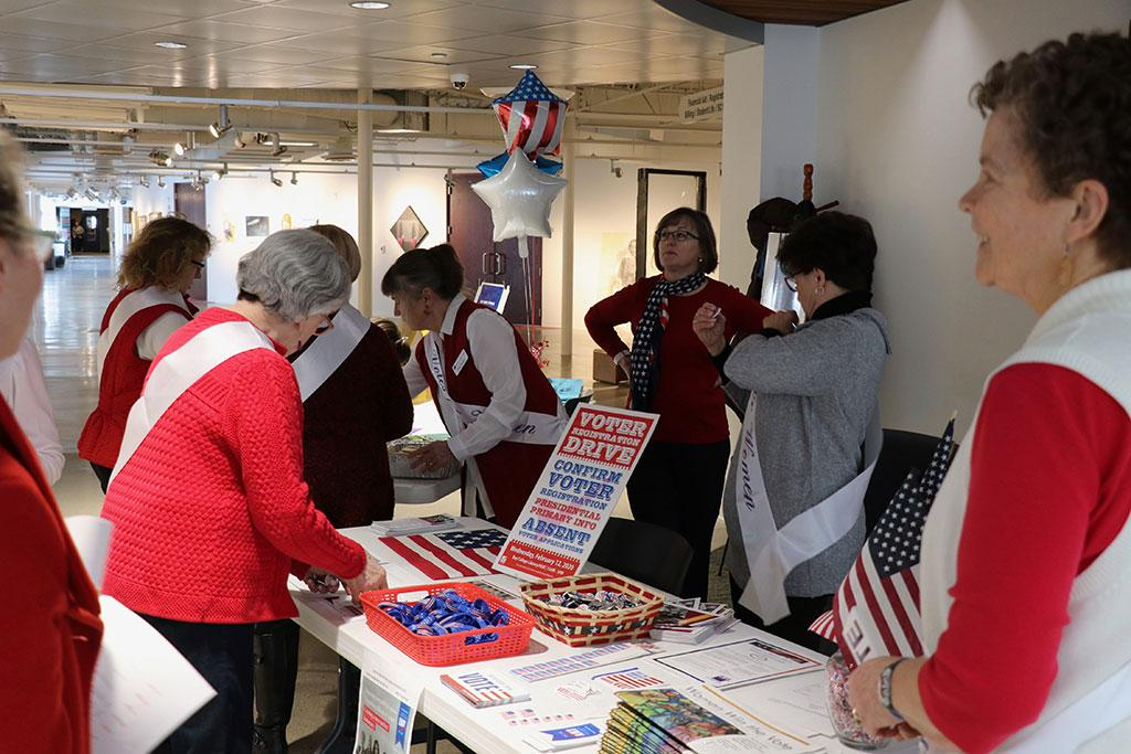League of Women Voters 100th birthday celebration and voter registration drive