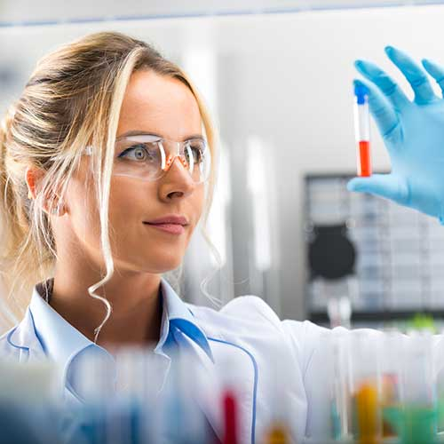 Female scientist in a lab