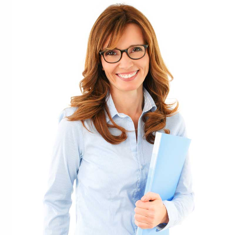 Female tutor smiling