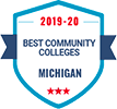 2019-20 Best Community Colleges in Michigan badge