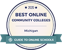 2020 Best Online Community Colleges in Michigan badge
