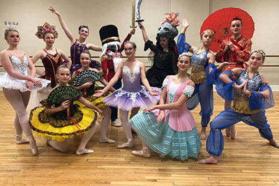 people dressed as characters from The Nutcracker Ballet
