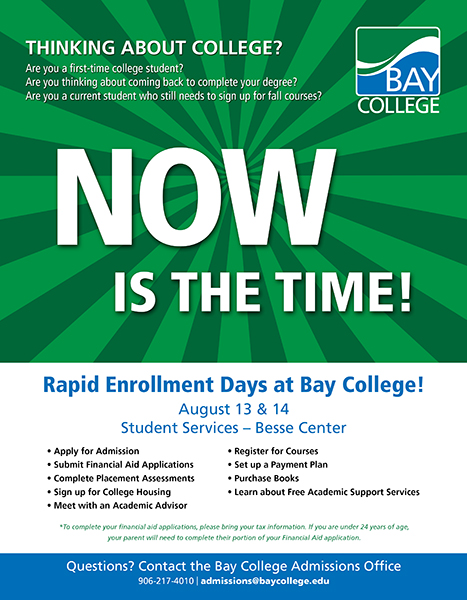 Rapid Enrollment Days Marketing piece