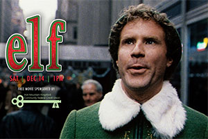 Will Farrell in an elf costume