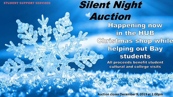 The Silent Auction will run until 1 PM on December 9
