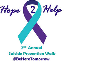 Hope 2 Help Suicide Prevention walk ribbon