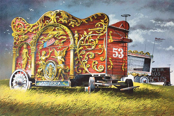 Painting by Robert Addison, Circuses Past