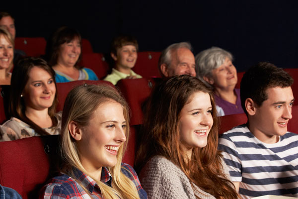 Group of people in a movie theater