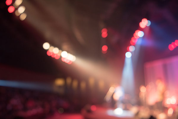 Blurred light of concert event