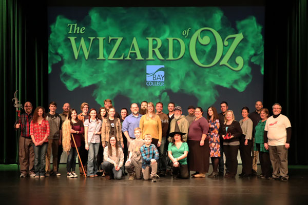 The Wizard of OZ production team on stage at the Besse Theater