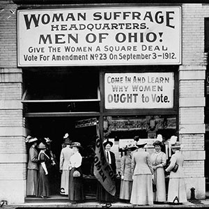 Woman suffrage headquarters