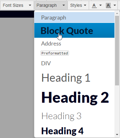 Blockquote example